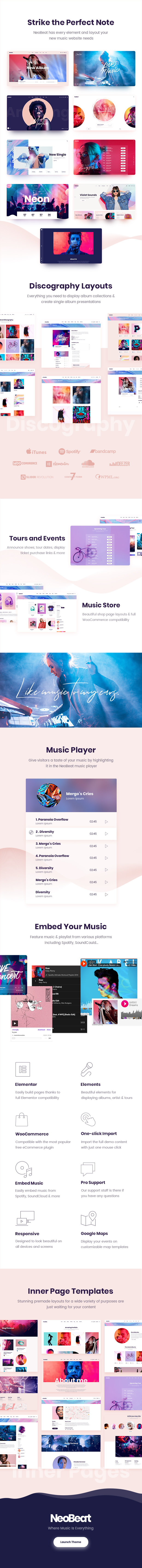 NeoBeat - Music WordPress Theme - 1